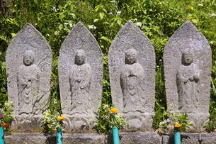 奈良県明日香村の石仏の写真素材 [FYI04774063]