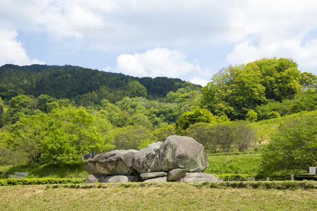明日香村の石舞台古墳の写真素材 [FYI04774073]