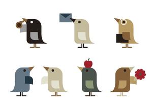 鳥 セット イラストのイラスト素材 [FYI04774103]