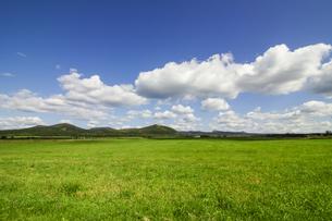 北海道の雄大な草原と空の風景の写真素材 [FYI04774319]