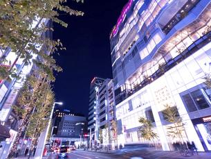東京都 夕暮れの銀座の写真素材 [FYI04774577]