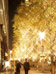 東京都 丸の内仲通りのイルミネーションの写真素材 [FYI04774668]
