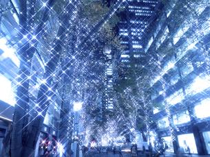 東京都 丸の内仲通りのイルミネーションの写真素材 [FYI04774747]
