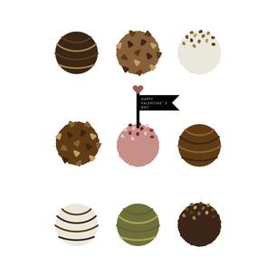 並べた チョコレートトリュフ イラストのイラスト素材 [FYI04774834]