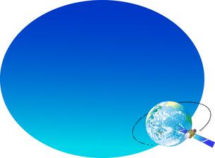 通信衛星の放送ネットワークのイラストのイラスト素材 [FYI04774842]