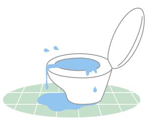 トイレの水漏れ つまりのイラスト素材 [FYI04774980]