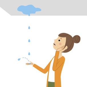 雨漏り 大雨のイラスト素材 [FYI04774982]