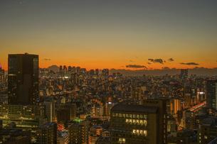 文京シビックセンターからの夕景(新宿方面)の写真素材 [FYI04775238]