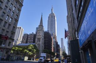 ニューヨーク マンハッタンの街並みの写真素材 [FYI04775468]