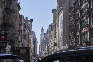 ニューヨーク マンハッタンの街並みの写真素材 [FYI04775478]