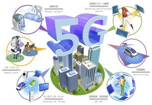 5G 高速かつ大容量ネットワークで変わる世界 (バリエーションあり)のイラスト素材 [FYI04775724]