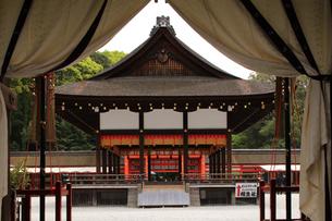 京都下鴨神社の葵生殿 世界遺産の下鴨神社の写真素材 [FYI04775836]