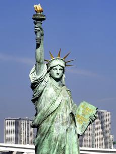 東京都 お台場の自由の女神像の写真素材 [FYI04776127]