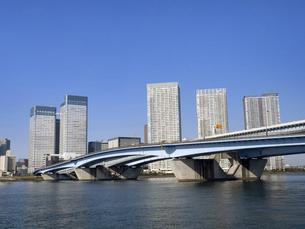 東京港と晴海大橋の写真素材 [FYI04776213]