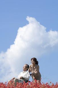 車椅子で散歩する夫婦の写真素材 [FYI04776305]