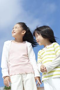 笑顔の女の子と男の子の写真素材 [FYI04776563]