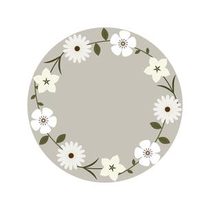 円状に置いた白花のフレームのイラスト素材 [FYI04776695]