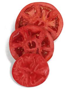 スライスされたトマトのイラスト素材 [FYI04776770]