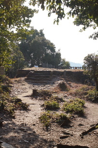 備中松山城の風景(城郭石垣)の写真素材 [FYI04776848]