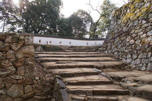 備中松山城の風景(城郭石垣)の写真素材 [FYI04776852]