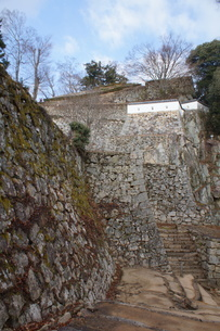 備中松山城の風景(城郭石垣)の写真素材 [FYI04776857]