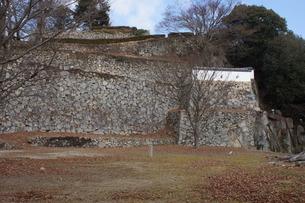 備中松山城の風景(城郭石垣)の写真素材 [FYI04776860]
