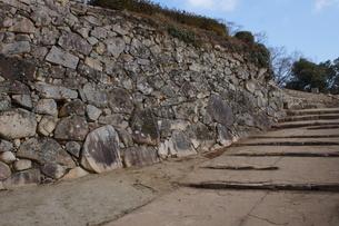 備中松山城の風景(城郭石垣)の写真素材 [FYI04776861]