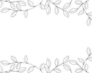 葉っぱの手描き線画イラストのイラスト素材 [FYI04776871]