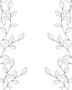 葉っぱの手描き線画イラストのイラスト素材 [FYI04776872]