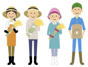 米農家の人々 働く人のイラスト素材 [FYI04776896]