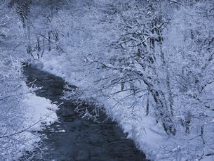 冬の川の写真素材 [FYI04777633]