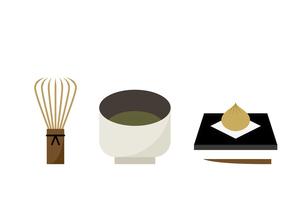 抹茶 お菓子 茶筅 イラストのイラスト素材 [FYI04777822]