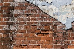 古びた煉瓦の壁の写真素材 [FYI04777870]
