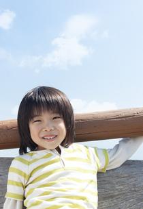 笑顔の男の子の写真素材 [FYI04778097]