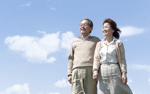 笑顔のシニア夫婦の写真素材 [FYI04778234]