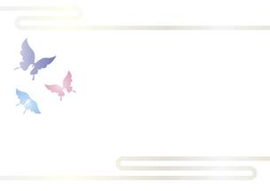 胡蝶 アゲハチョウの切り絵風デザイン 背景素材 イラストのイラスト素材 [FYI04778500]