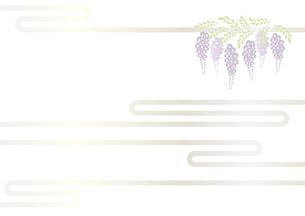 藤の花の切り絵風デザイン 背景素材 イラスト のイラスト素材 [FYI04778511]