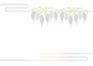 藤の花の切り絵風デザイン 背景素材 イラスト のイラスト素材 [FYI04778512]