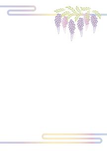 藤の花の切り絵風デザイン 背景素材 イラスト のイラスト素材 [FYI04778514]