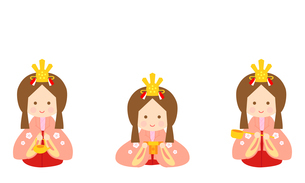 ひな人形 三人官女 イラストのイラスト素材 [FYI04778583]