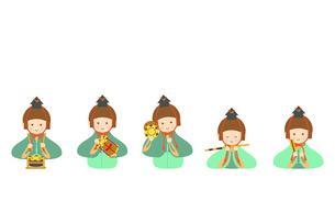 ひな人形 五人囃子 イラストのイラスト素材 [FYI04778584]