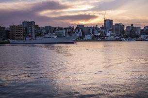 博多港夕景の写真素材 [FYI04778677]