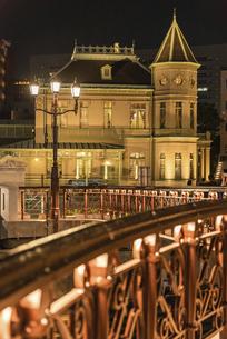 旧福岡県公会堂貴賓館のある夜景の写真素材 [FYI04778714]