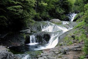長野県茅野市北山横谷渓谷 おしどり隠しの滝の写真素材 [FYI04778994]