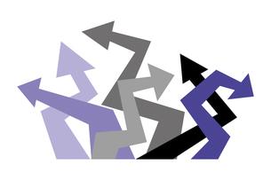 ジグザグに曲がった矢印のイラスト素材 [FYI04779071]