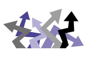ジグザグに曲がった矢印のイラスト素材 [FYI04779072]