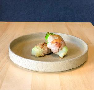 つぼみ菜の肉巻きの写真素材 [FYI04779183]
