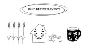 ナチュラルな手描き線画のイラストのイラスト素材 [FYI04779590]