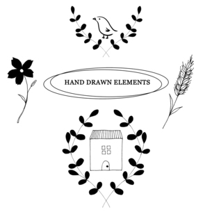 ナチュラルな手描き線画のイラストのイラスト素材 [FYI04779591]