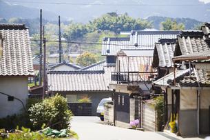 奈良県明日香村の街並みの写真素材 [FYI04779954]